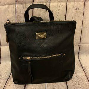 Black + Gold Zipper Backpack NWT